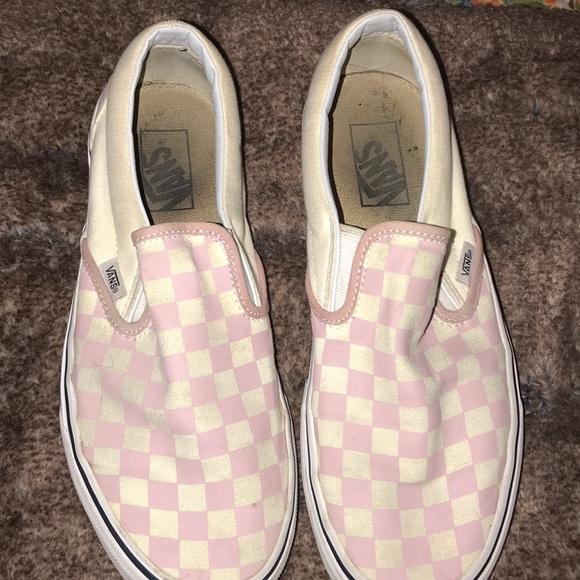 Vans Shoes   Blush Checkered Vans